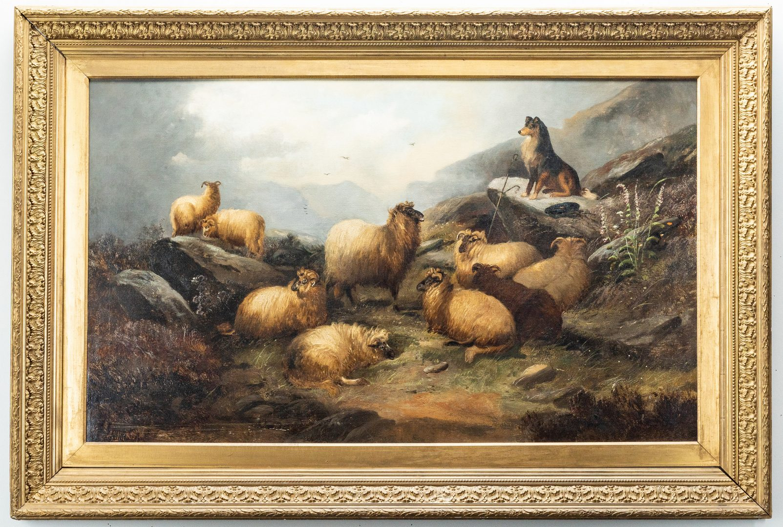 Lot 371: Alfred Morris O/C, Sheep and Guard Dog