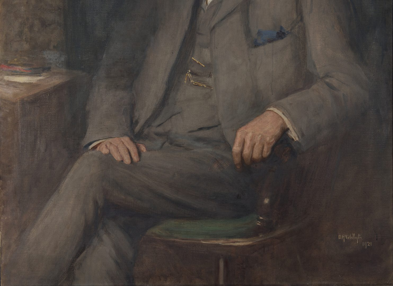 Lot 372: Duncan McGregor Whyte, portrait of Hugh MacDiarmid