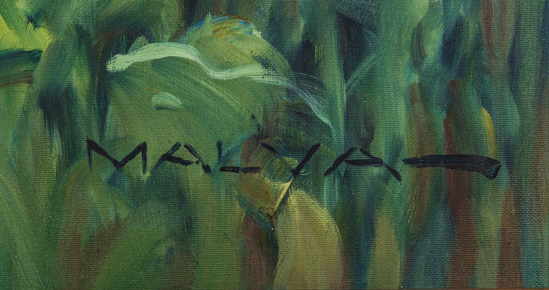 Lot 374: Malva O/C, Mediterranean Sunflowers
