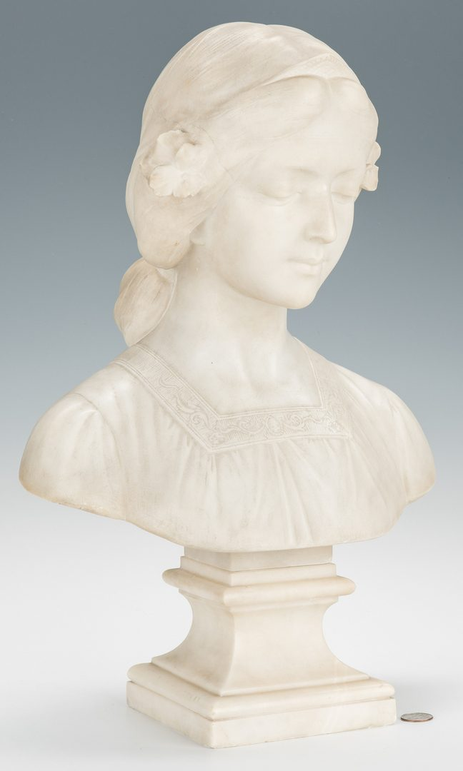 Lot 375: Marble Bust of a Young Beauty