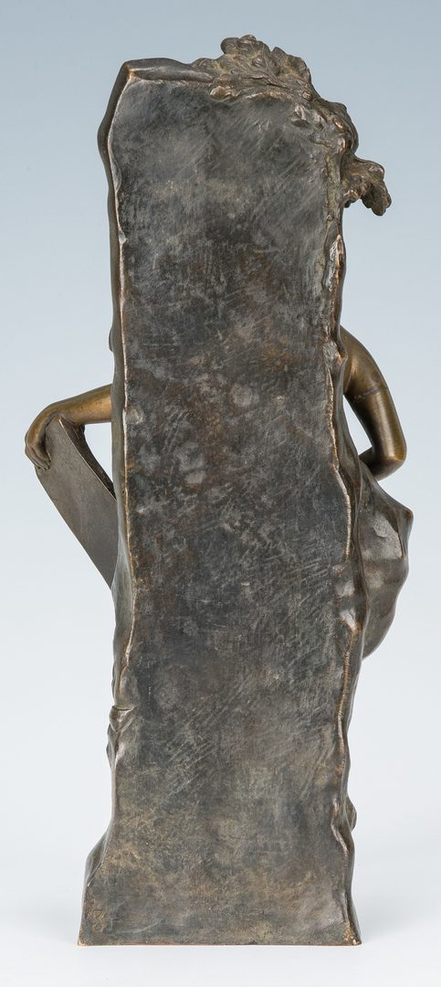 "Lot 377: Emile Louis Picault Female Bronze, ""Memoria"""