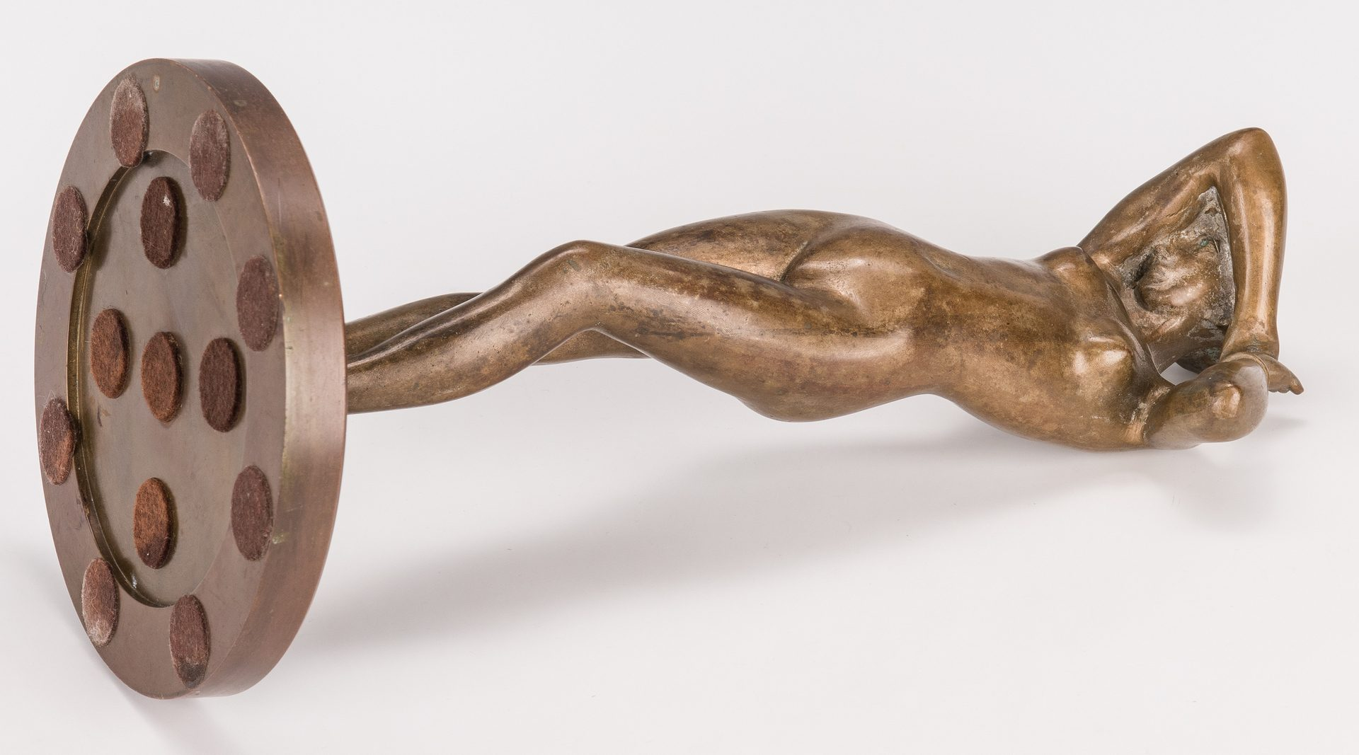 Lot 378: Bronze Sculpture of a Nude Woman