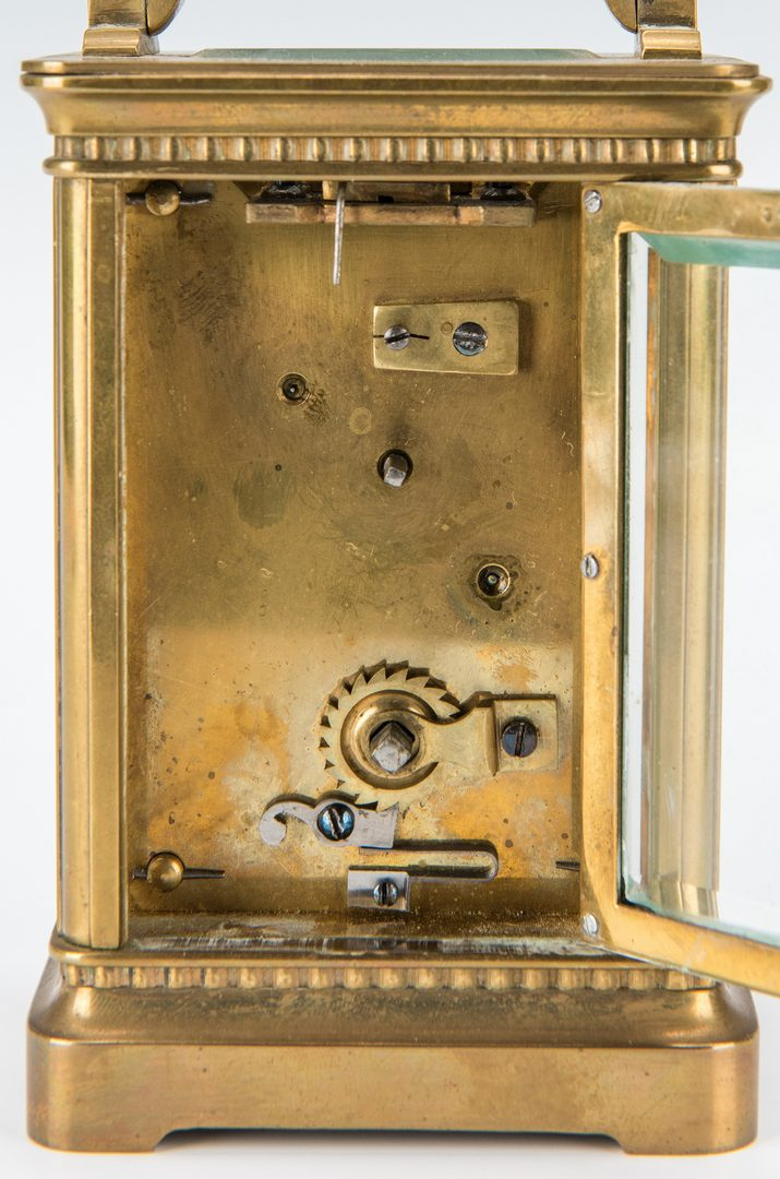 Lot 379: 2 Brass Carriage Clocks, incl.  J.E. Caldwell & Co.