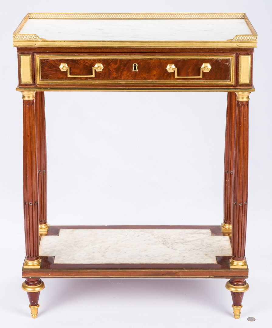 Lot 384: Directoire Marble Top Table, c. 1800