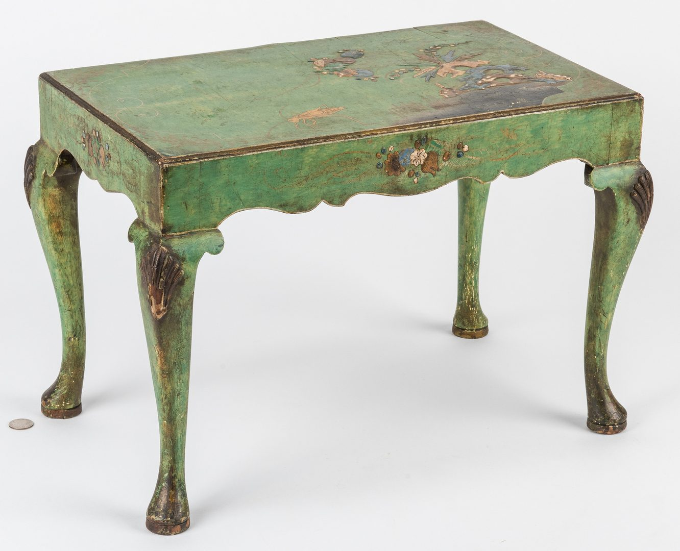 Lot 385: George III Chinoiserie Low Table with Grasshopper