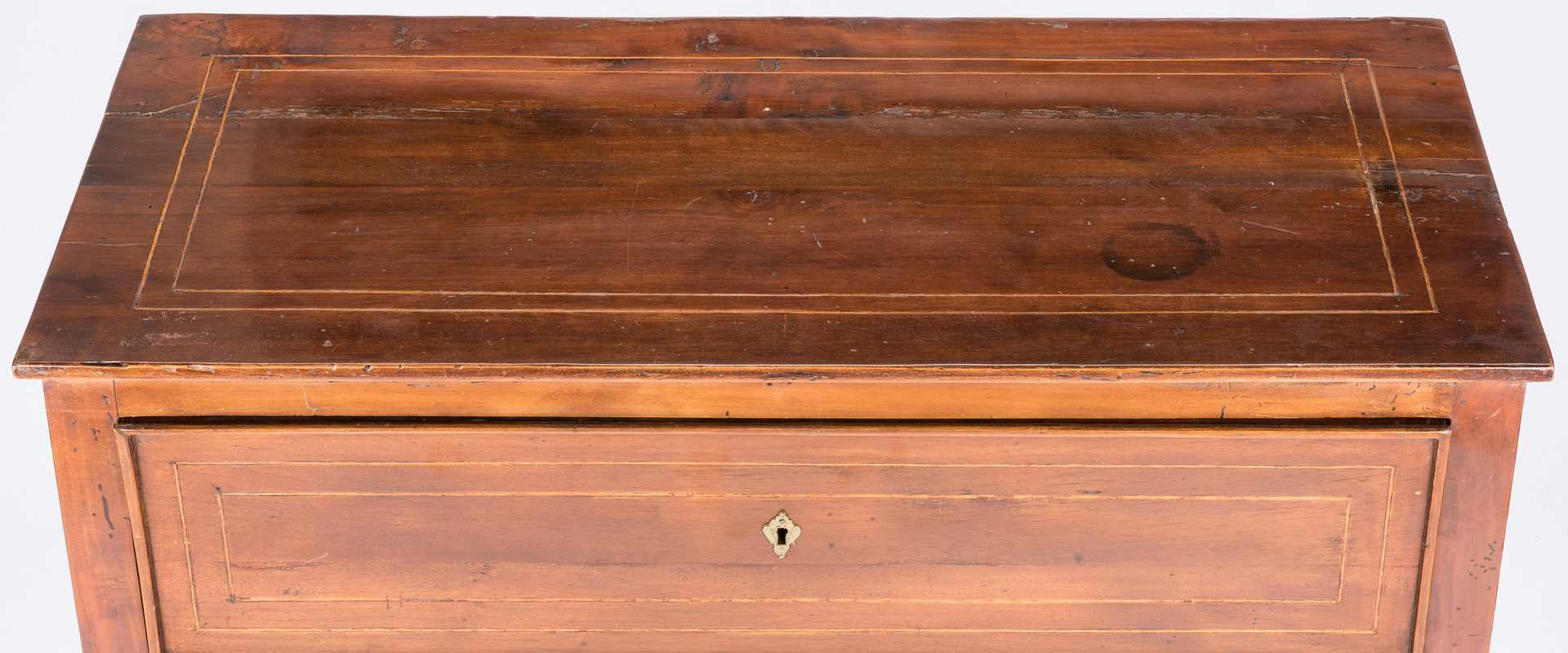Lot 388: Italian Neoclassical Two Drawer Commode