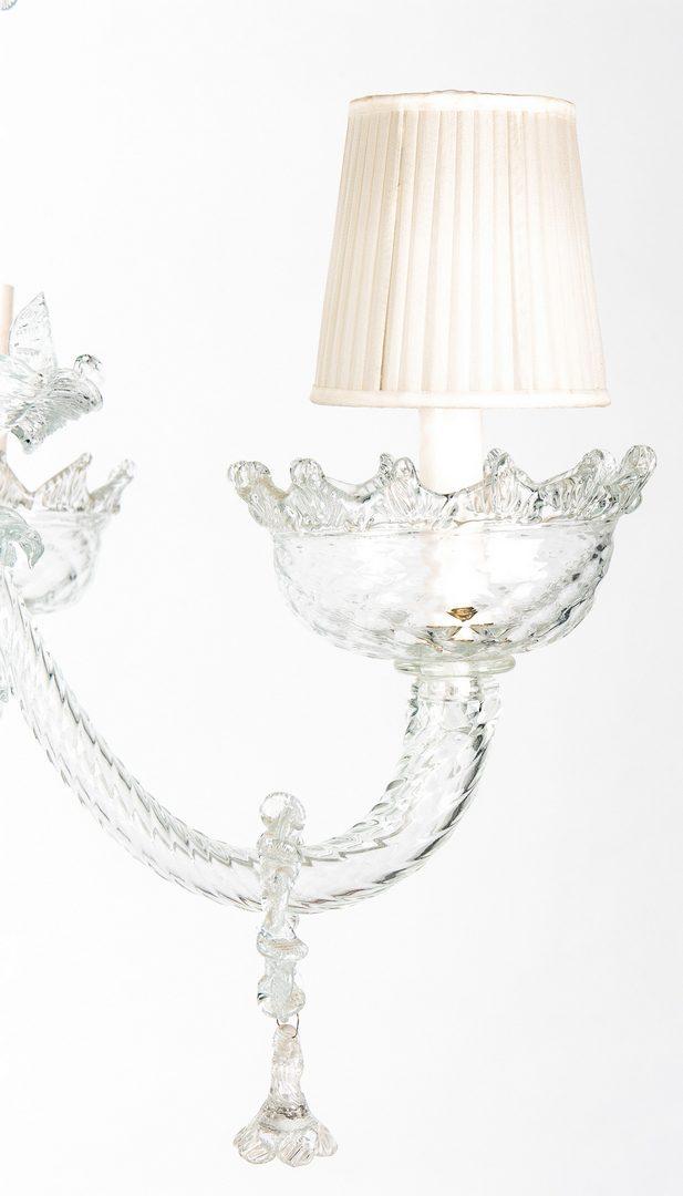 Lot 389: Venetian Blown Glass Chandelier