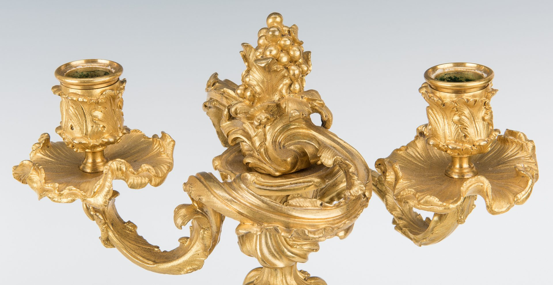 Lot 391: Pair Louis XV Style Ormolu Candelabra