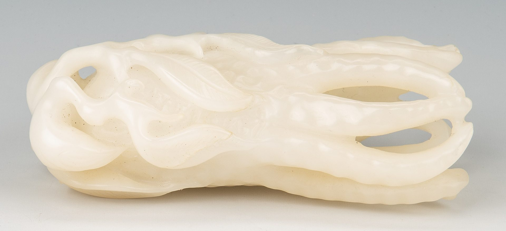 Lot 3: Chinese White Jade Carved Buddha Hand Citron