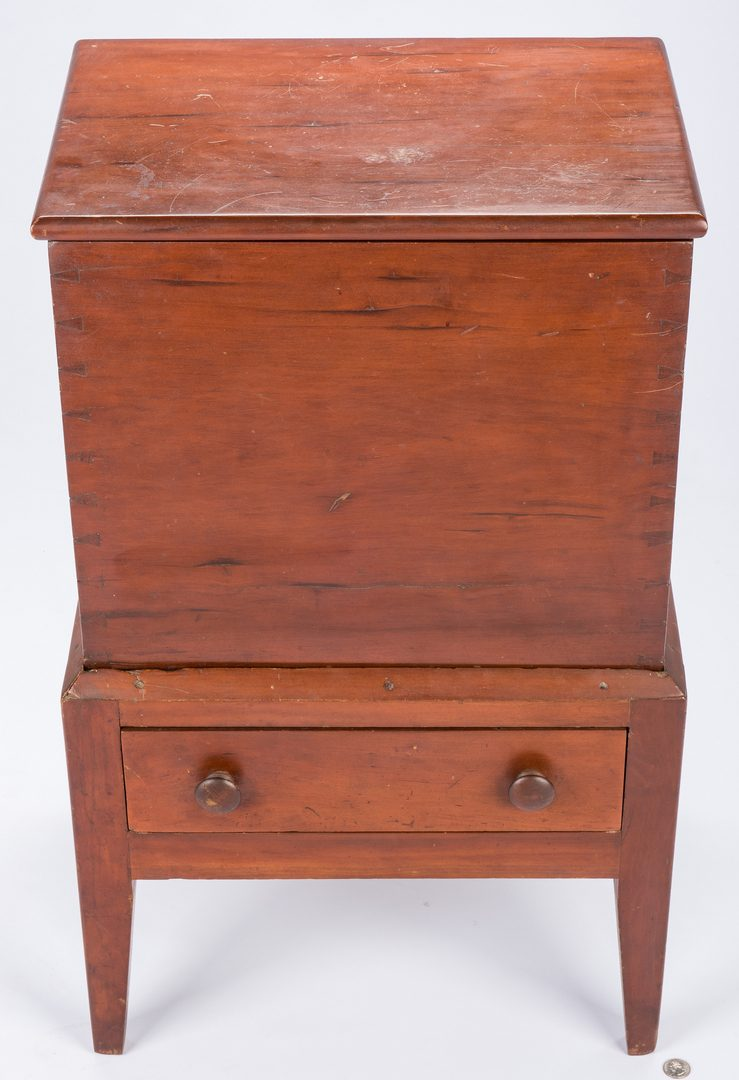 Lot 400: Hepplewhite Style Sugar Chest