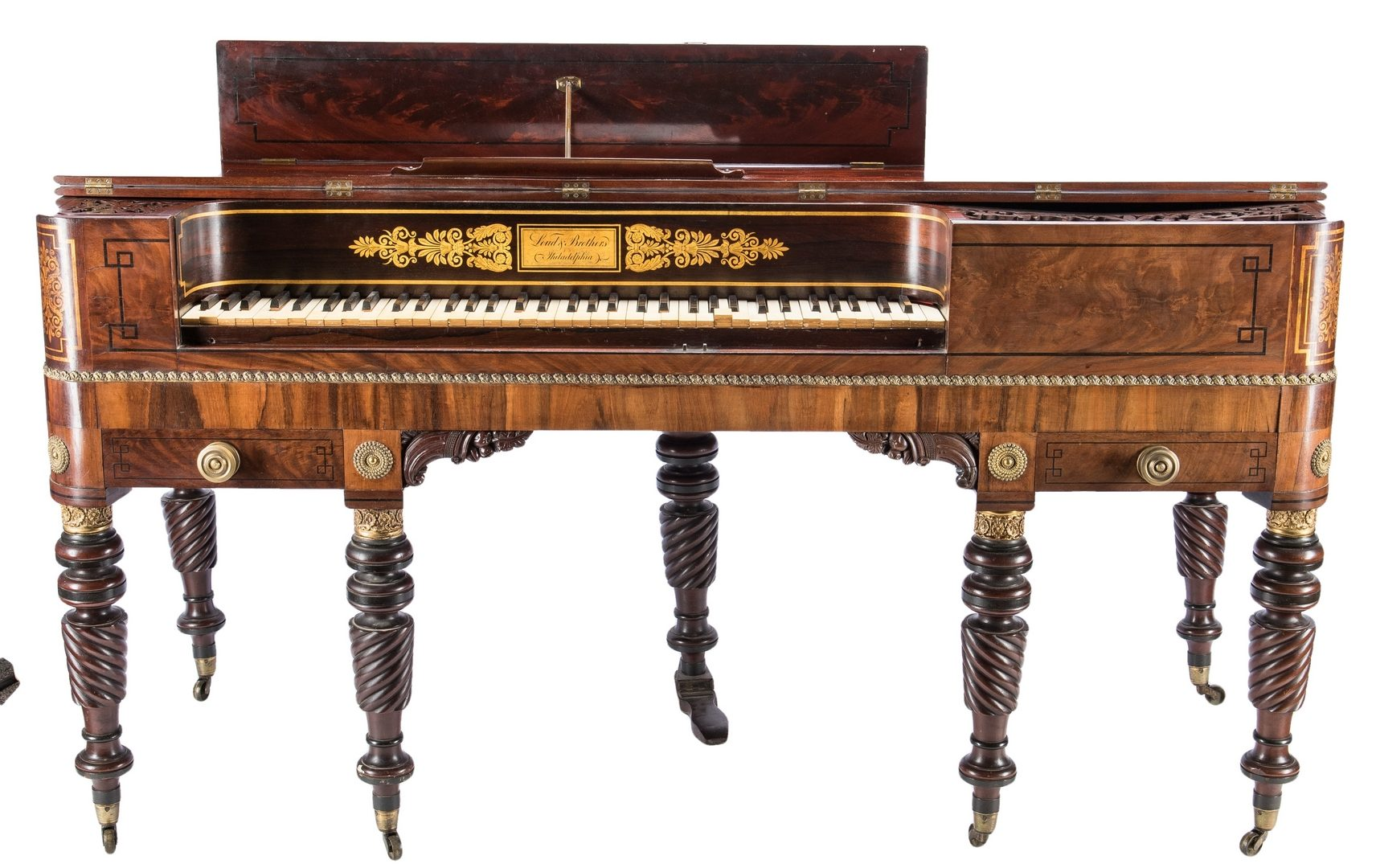 Lot 403: American Federal Piano Forte, Loud Brothers
