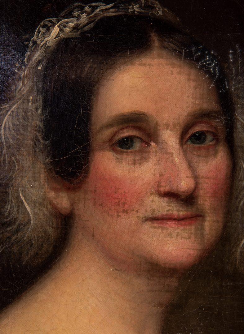 Lot 409: Portrait of Julia Wingate Clapp, attr. Badger