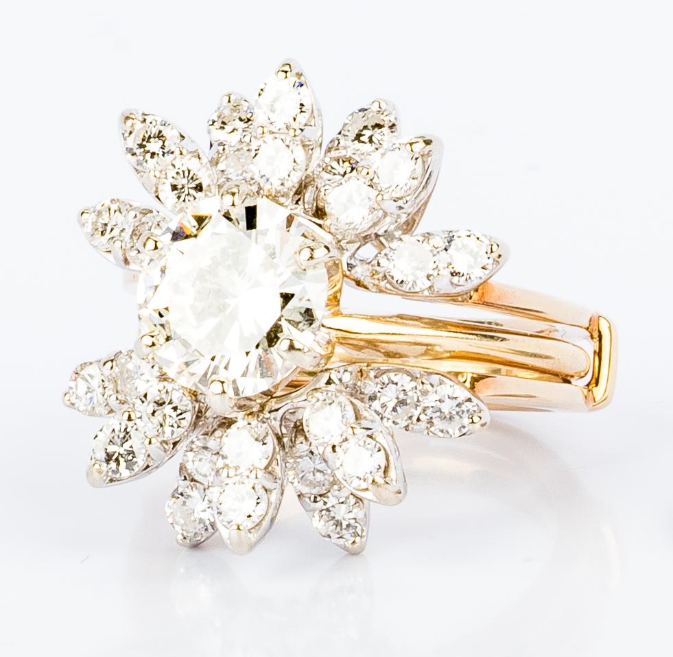 Lot 40: 2.09 ct. Round Diamond Ring w/ Jacket