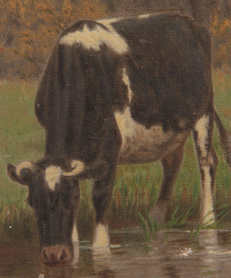 Lot 413: Clinton Loveridge O/C, Landscape with Cows