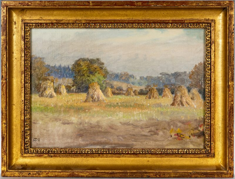 Lot 415: Anna Brewster O/C, Haystacks, Fenimore Road