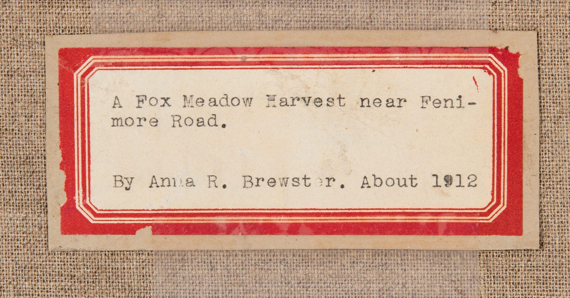 Lot 415: Anna Brewster O/C, Haystacks, Fenimore Road
