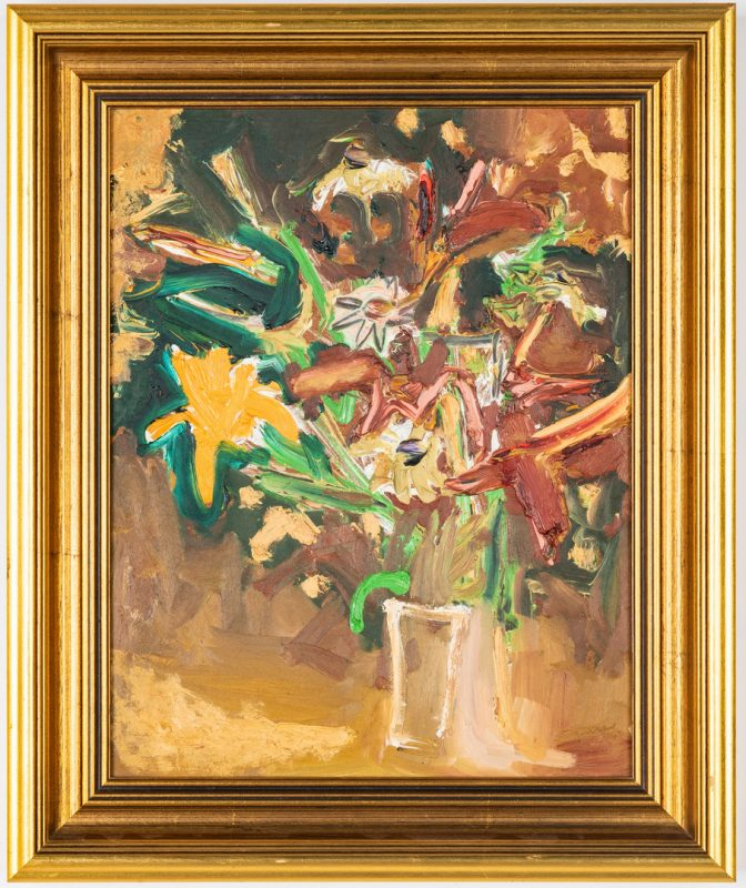 Lot 421: Sterling Strauser O/B, Still Life Floral Painting