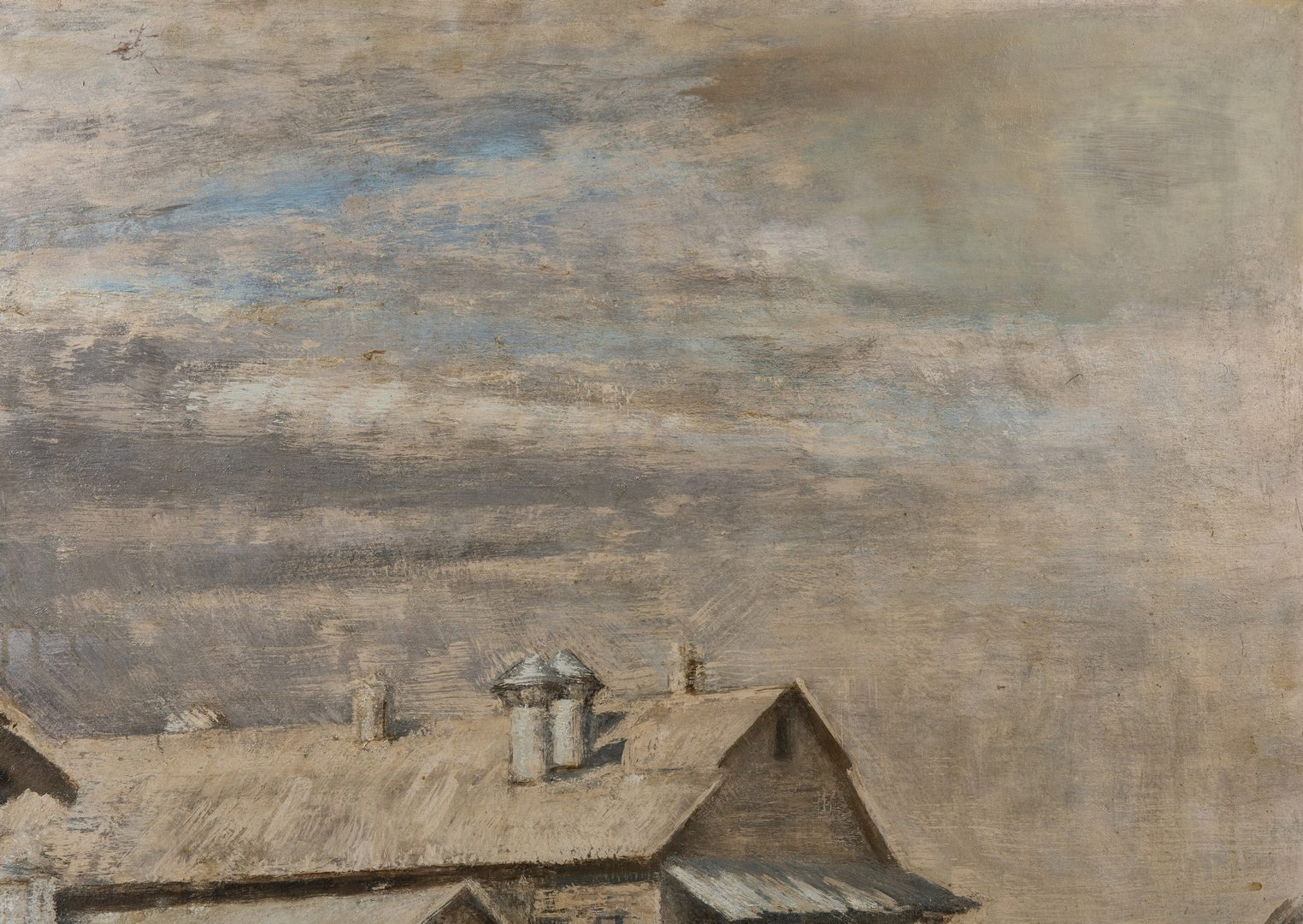 Lot 423: Gaspere Ruffolo O/B, Cotton Mill, Double Sided Painting
