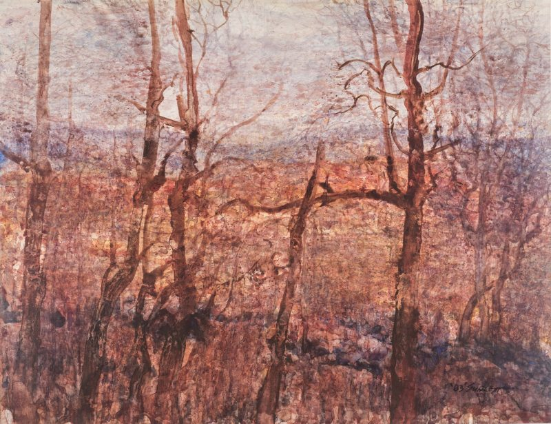 Lot 426: Carl Sublett Watercolor Landscape, Wild Lace