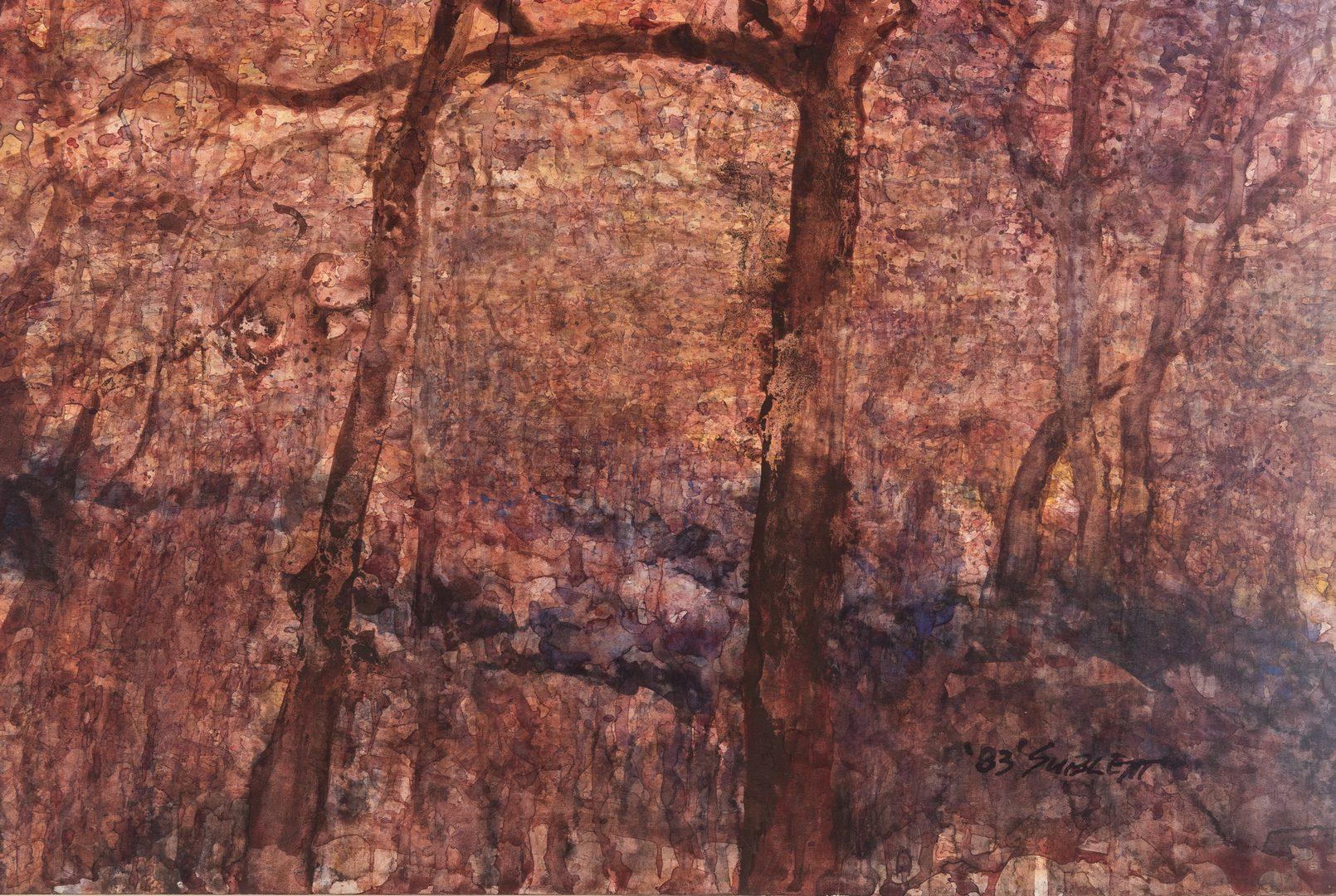 Lot 426: Carl Sublett Watercolor Landscape, Wild Lace