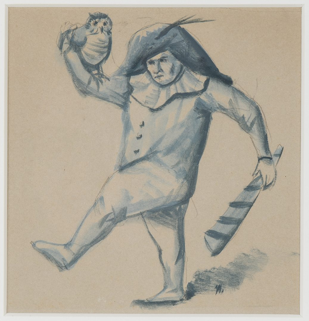 Lot 428: 2 Werner Wildner Paintings of Jesters