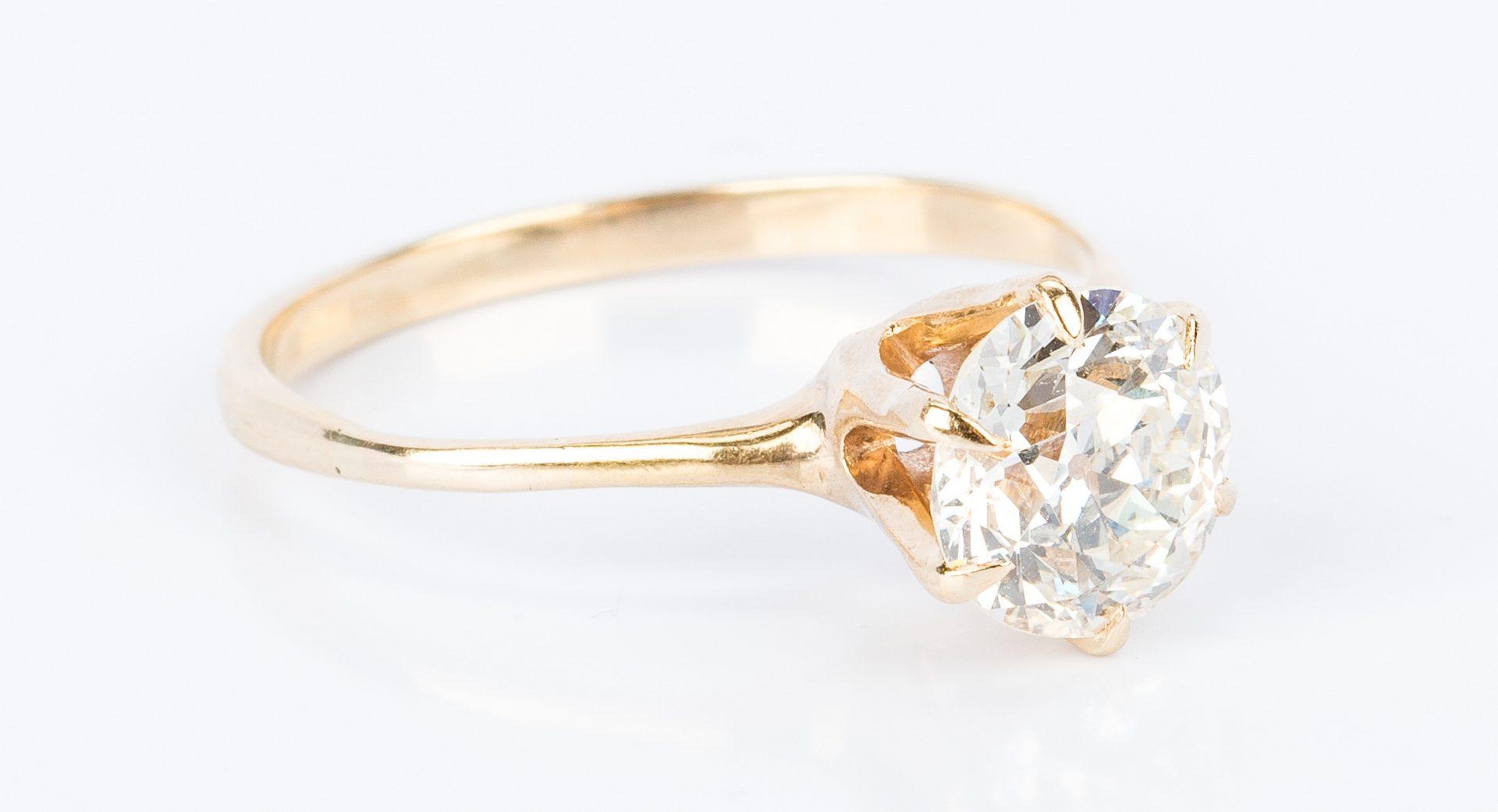 Lot 42: 2 ct. Old European Cut Diamond Ring