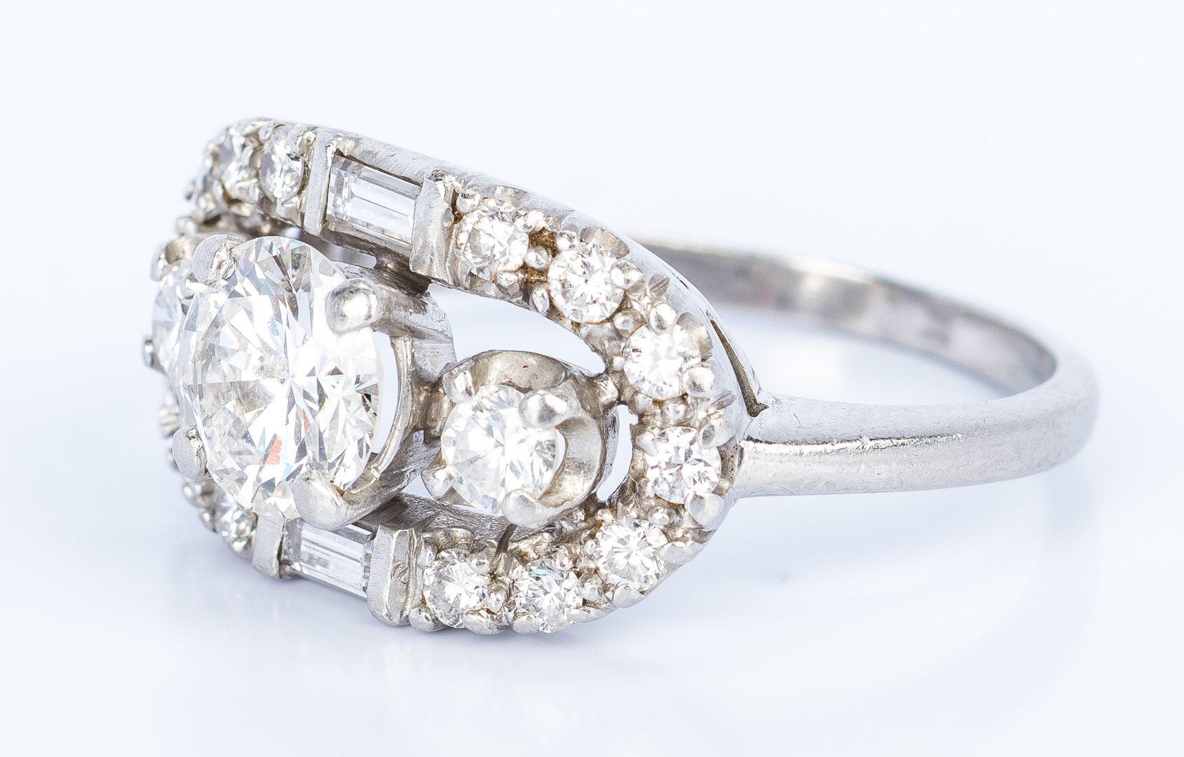 Lot 431: Vintage Platinum Diamond Ring
