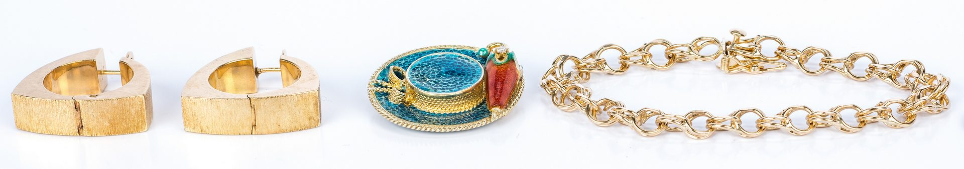 Lot 435: 3 18K and 14K gold Jewelry Items