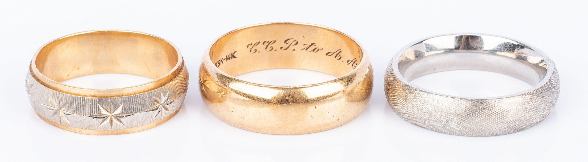 Lot 436: Group of 11 pcs 14K gold Jewelry, incl. Masonic