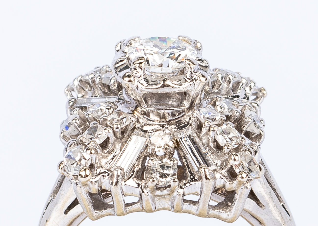 Lot 441: 14K Diamond Dinner Ring