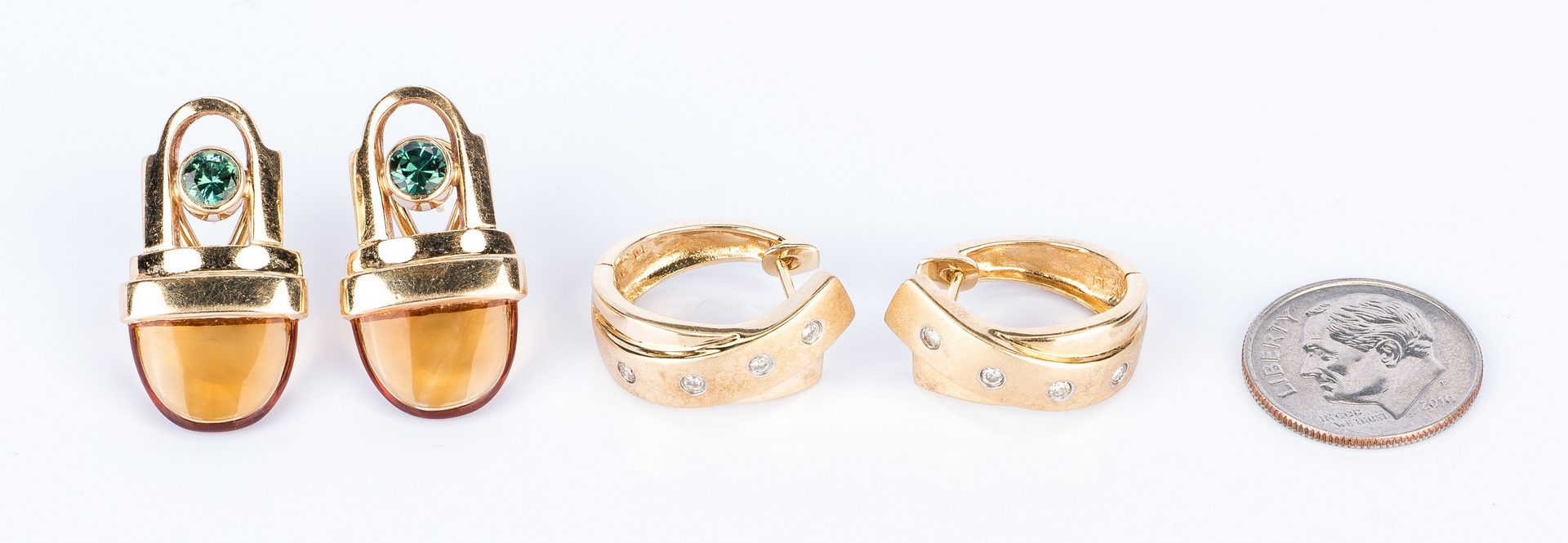 Lot 447: 2 Pr Designer Earrings incl. Piaget