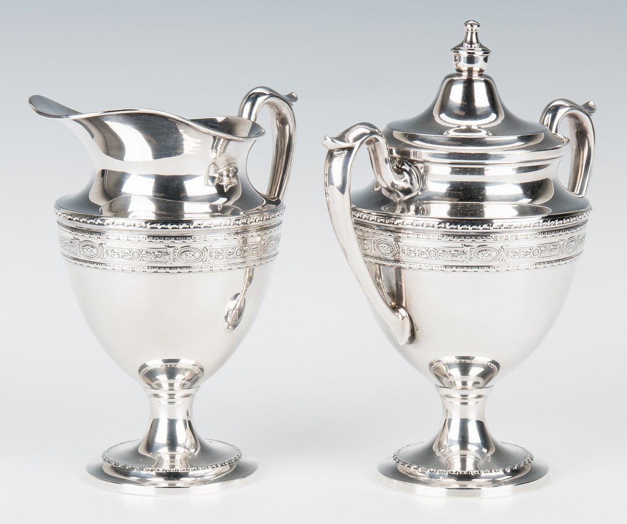 Lot 450: Goodman & Sons 5 pc. Sterling Silver Tea Set