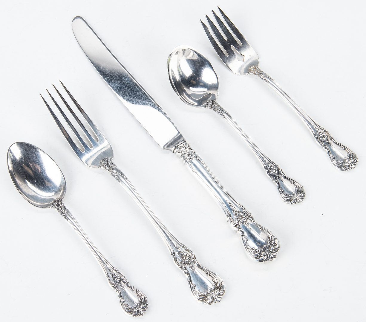 Lot 456: Towle Old Master Sterling Flatware and others