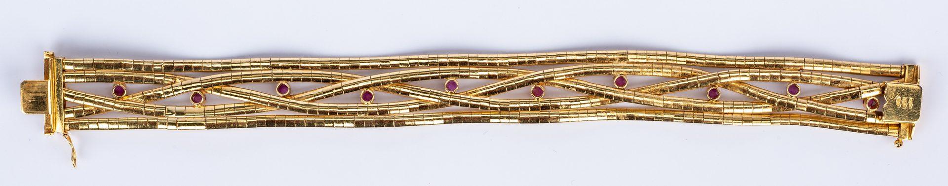 Lot 45: 18K Italian Ruby Bracelet