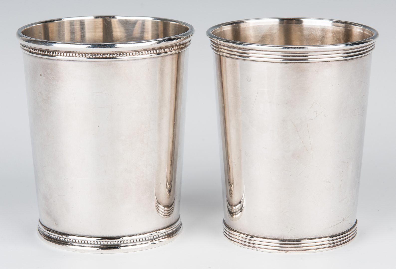Lot 463: 12 Sterling items, incl. Gorham/Scearce Mint Julep Cups