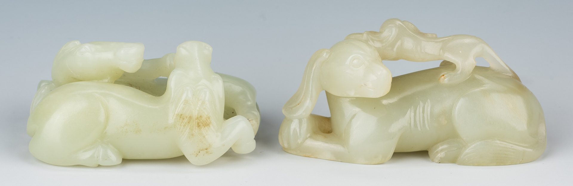 Lot 469: 8 Chinese Carved Jade Items, incl. Animals
