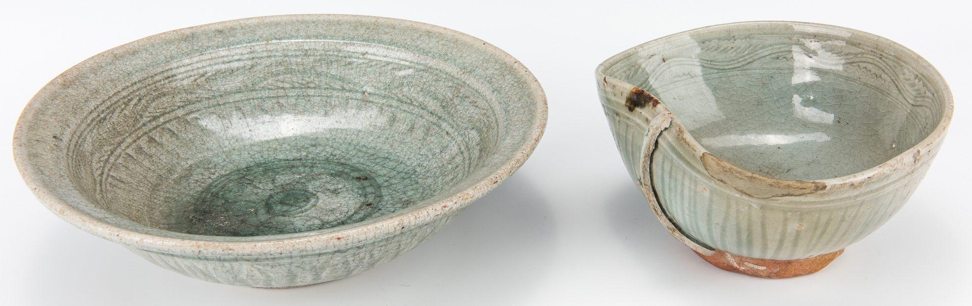 Lot 483: 2 Chinese Celadon Glazed Bowls