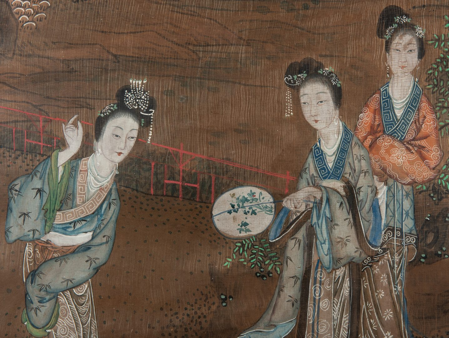 Lot 487: Chinese Qing Scroll Painting