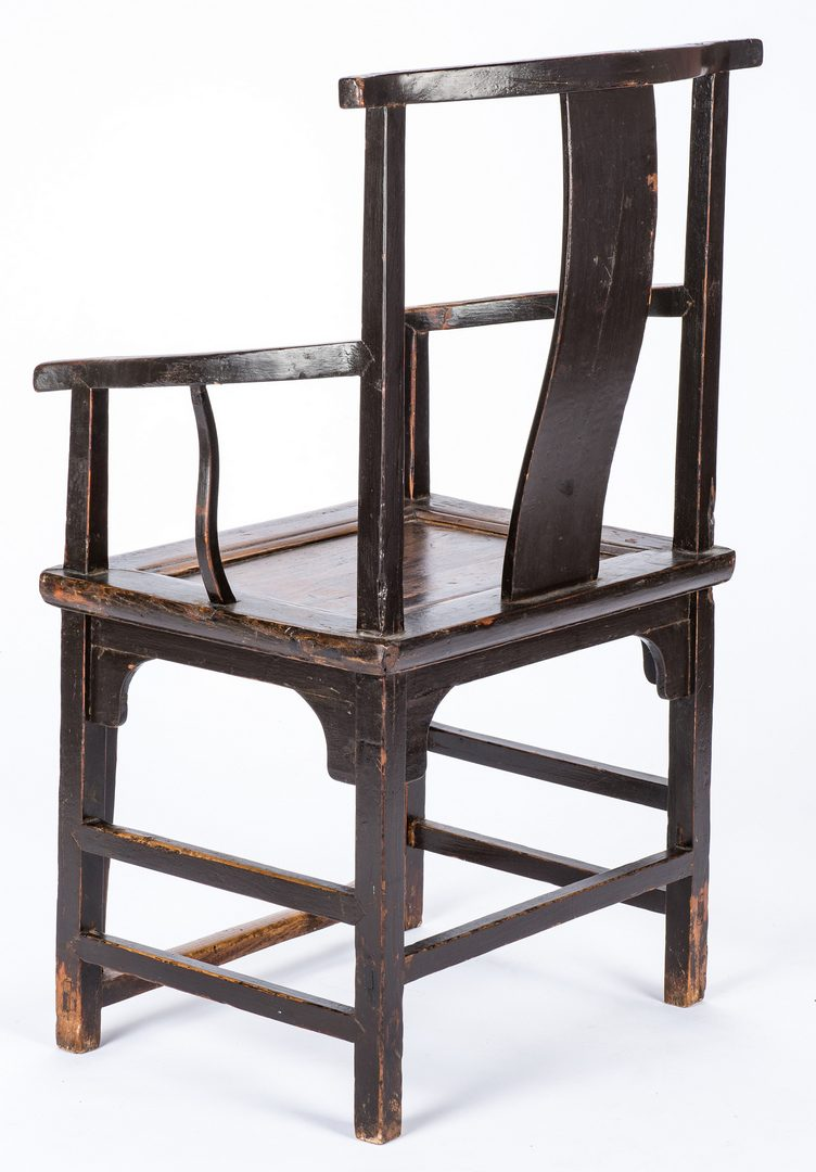 Lot 488: Chinese Carved Yoke Back Chair
