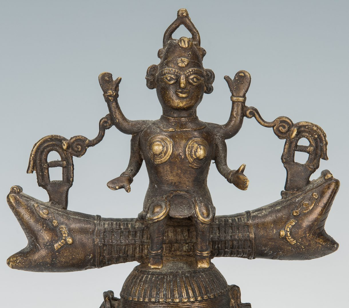 Lot 490: 3 Asian Bronze Figural Religious Items