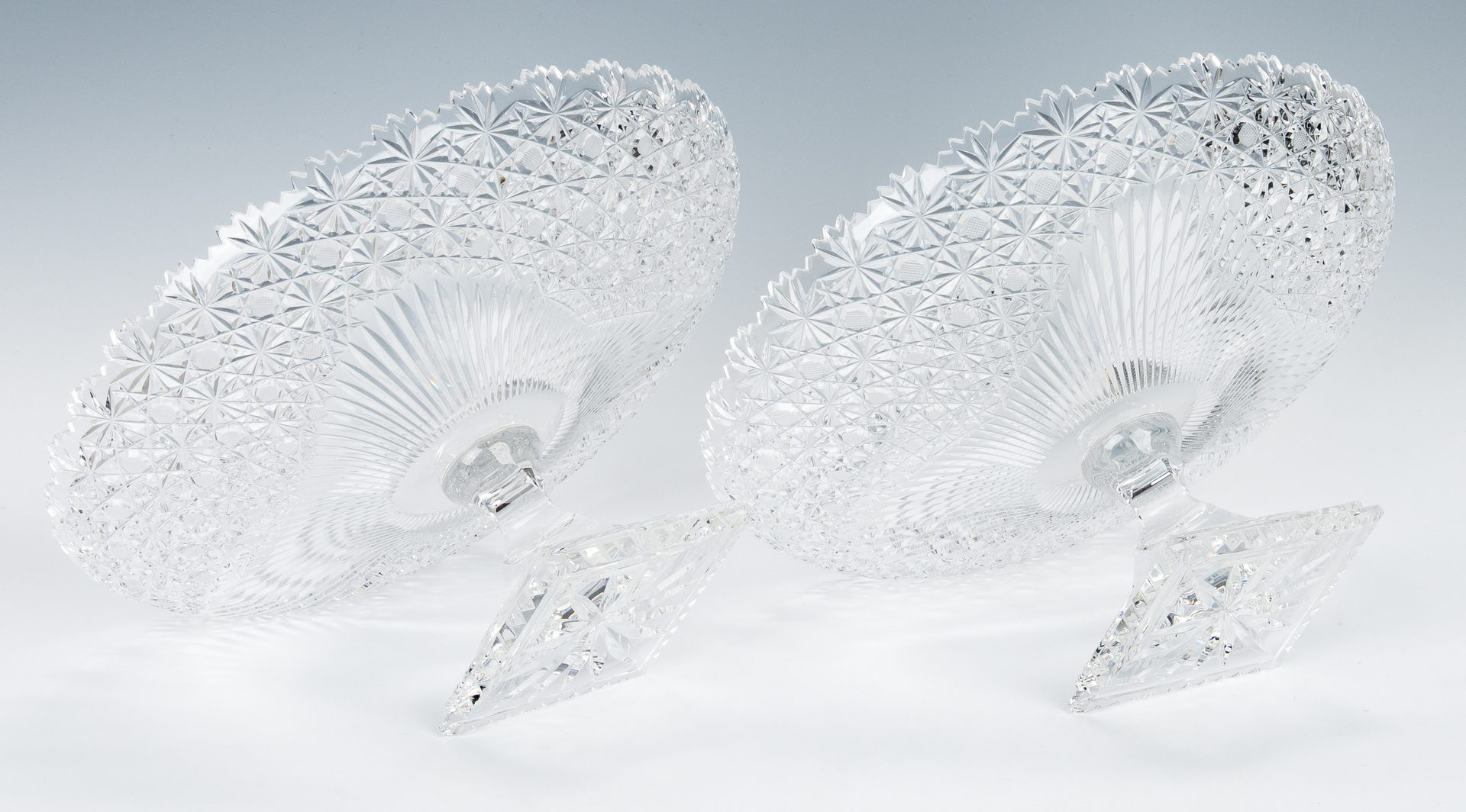 Lot 491: German & Austrian Cut Glass Compotes