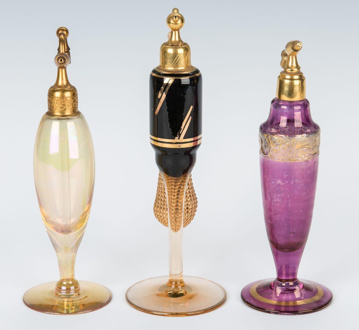 Lot 497: 12 Art Deco Perfume Bottles & Vases, incl. Czechoslovakia