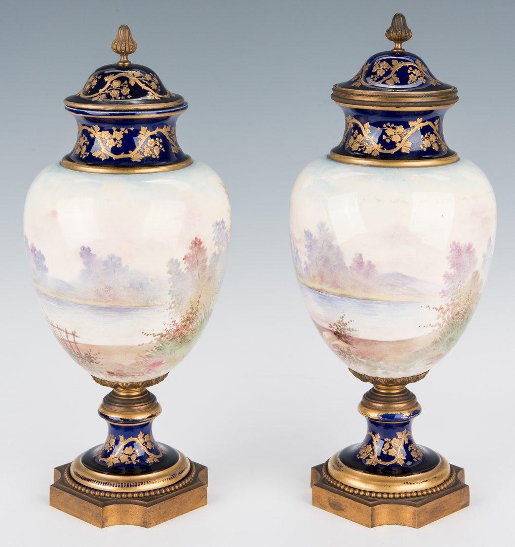 Lot 500: Pair French Porcelain Urns signed Rochette