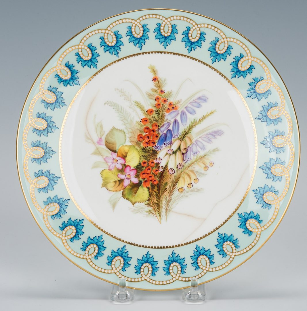 Lot 501: Royal Worcester Botanical Dessert Service, 16 pcs.