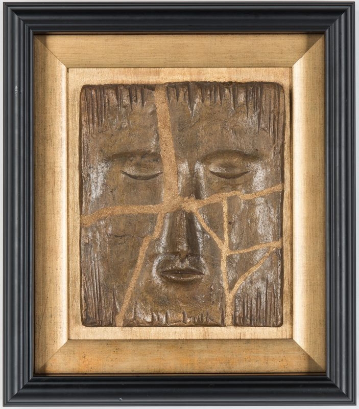 Lot 508: Olen Bryant Framed Rectangular Face