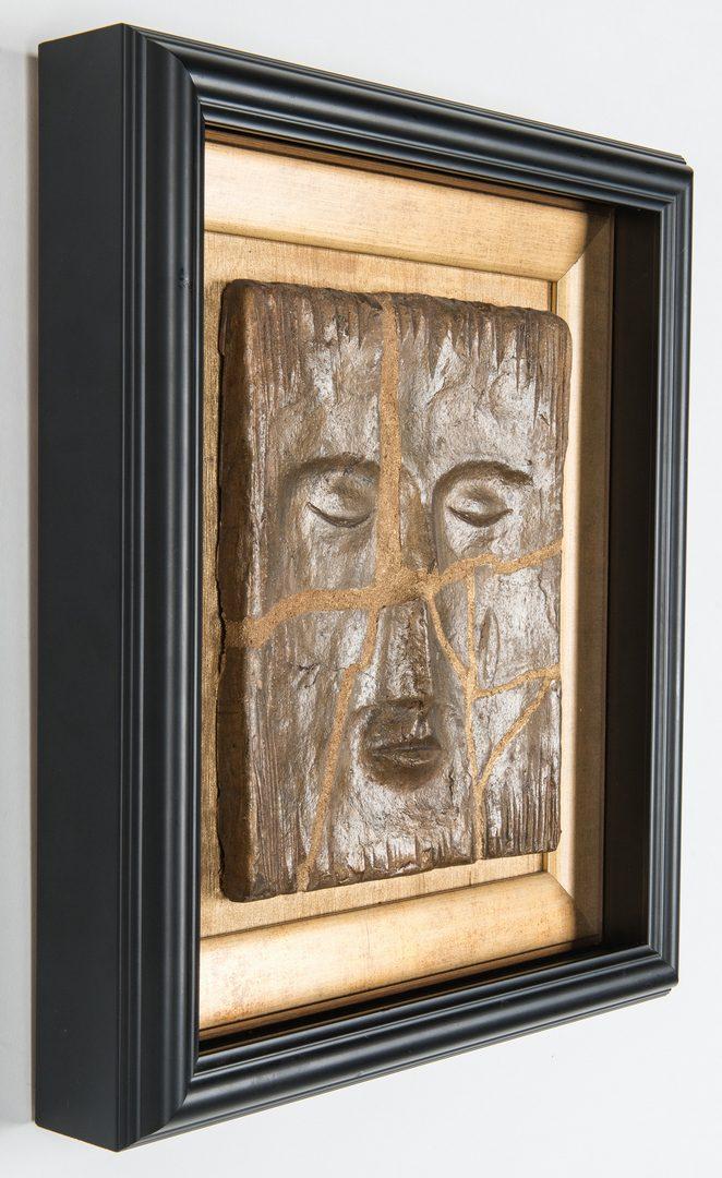 Lot 508: Olen Bryant Framed Rectangular Face