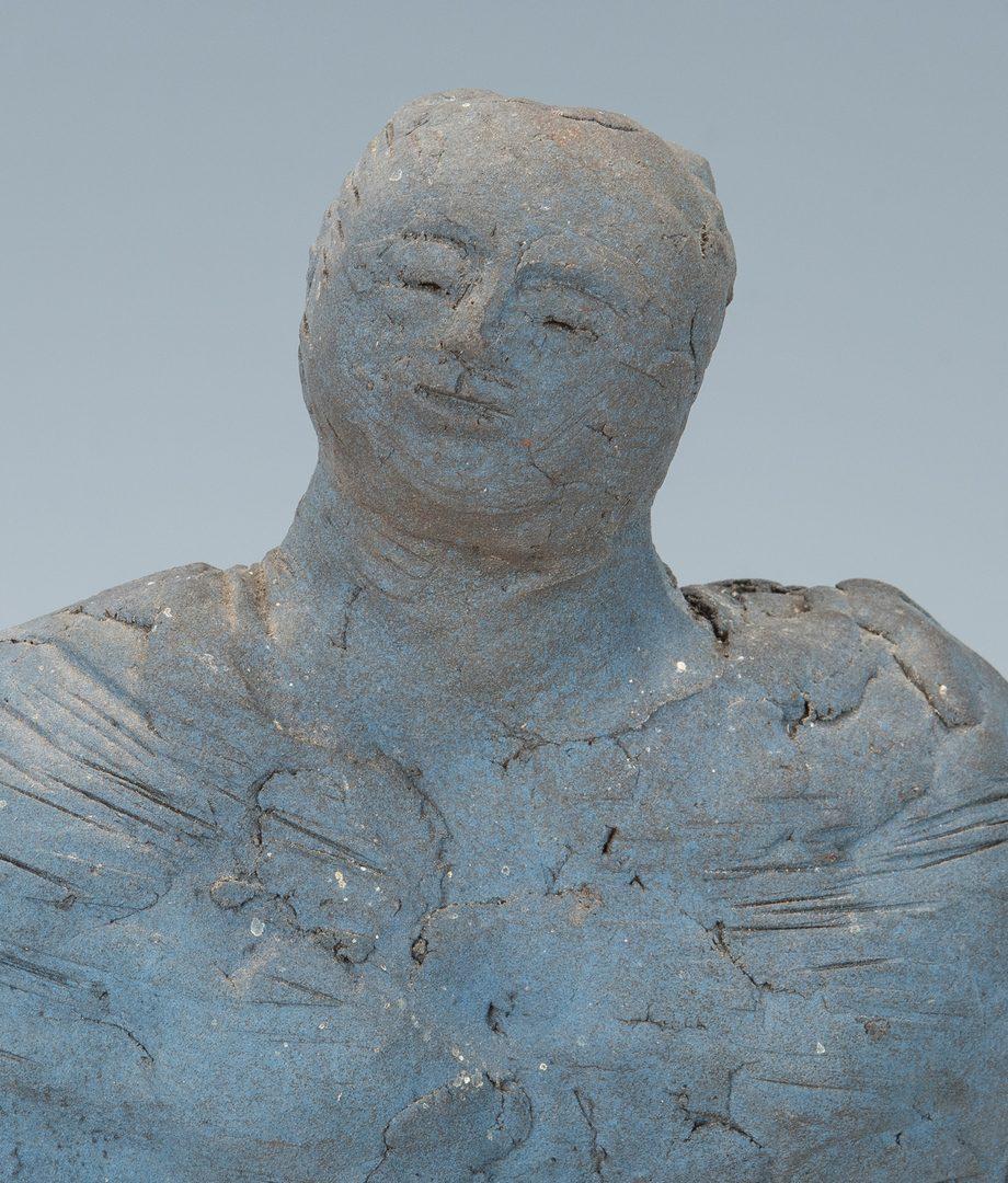 Lot 511: Olen Bryant Blue Ceramic Female Figure