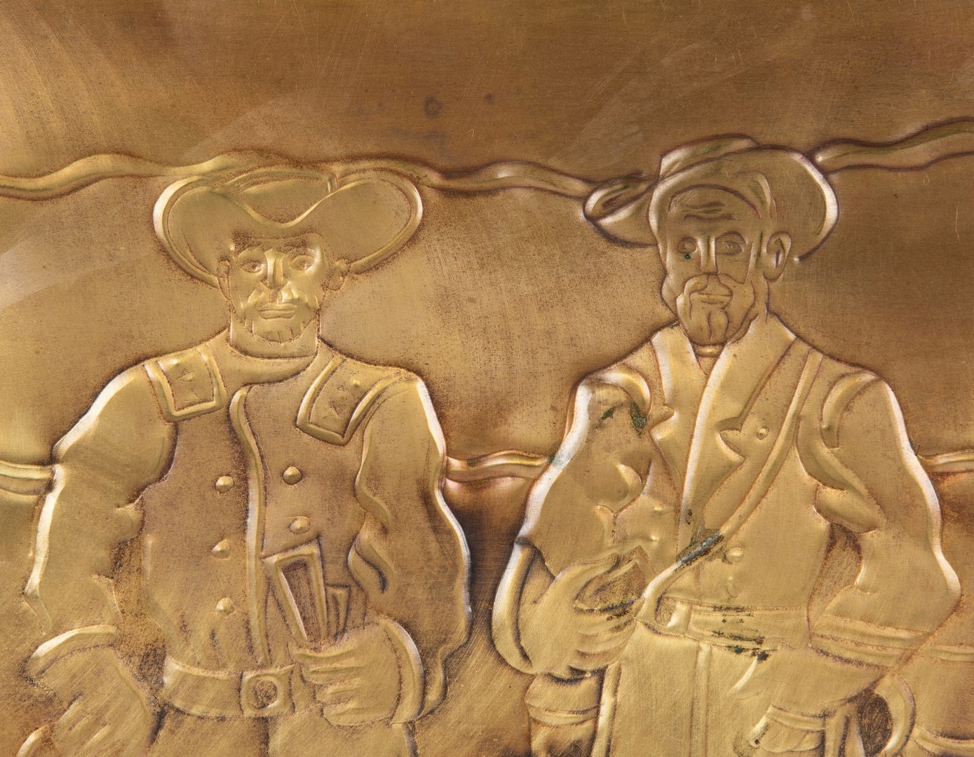 Lot 516: Greg Ridley Gilt Copper Panel, Appomattox Surrender