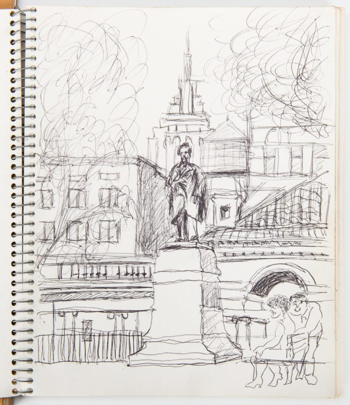 Lot 519: 2 Joseph Delaney Sketchbooks