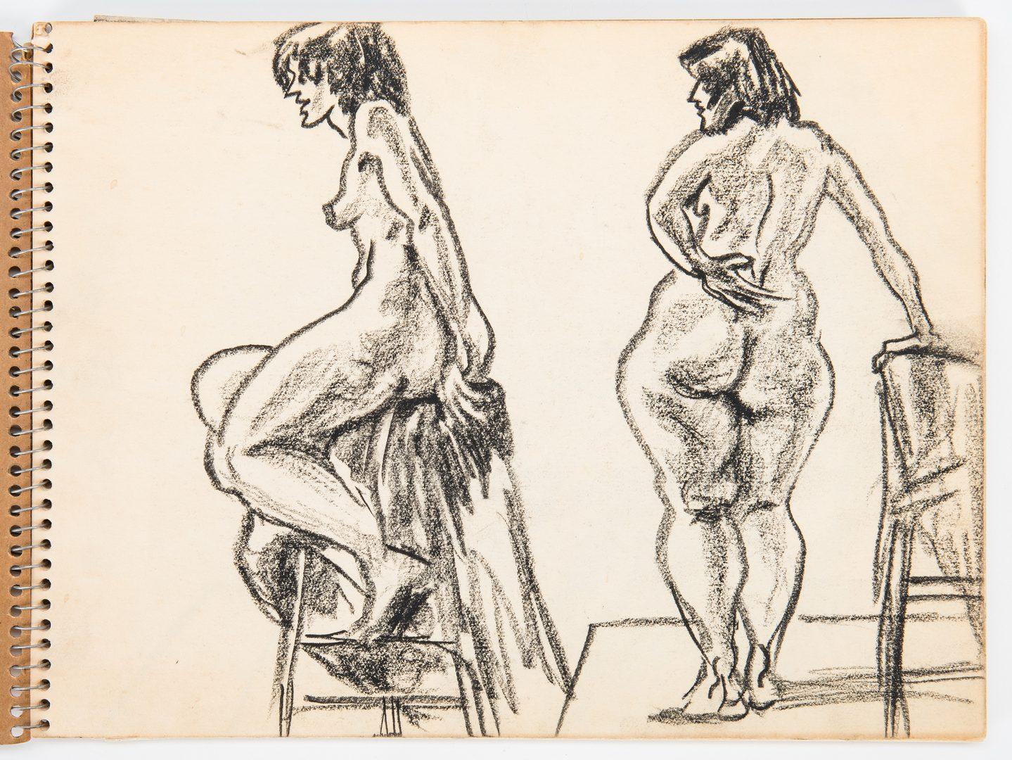 Lot 519: 2 Joseph Delaney Sketchbooks